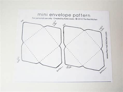 small envelope template the kitchen diy mini envelopes free printable pattern tutorial