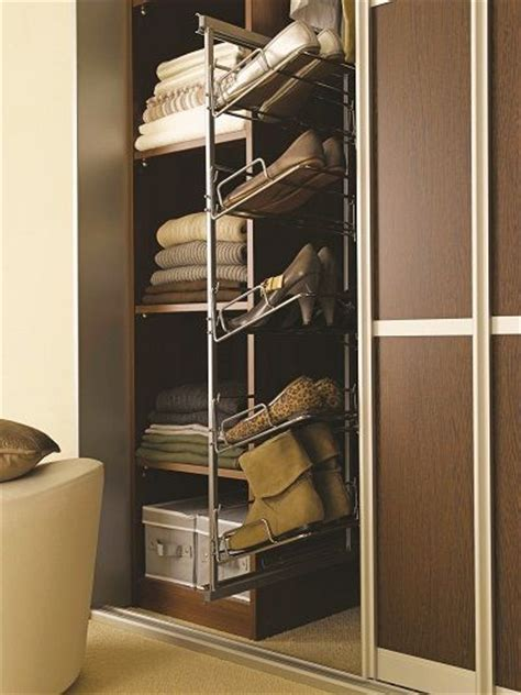 pull out 5 tier shoe rack wardrobe interiors