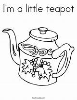 Teapot Template Coloring Twistynoodle sketch template