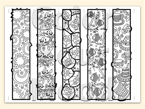 printable zendoodle bookmarks diy print color by