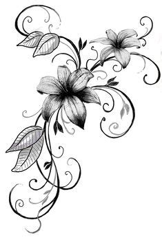 lily tattoos with vines   tiger lily tattoo vines   Flower