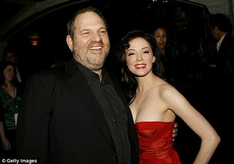 Rose McGowan and Harvey Weinstein