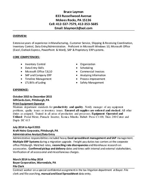 Updating Resume 2015 by Bruce Laymon Updated Resume 2015