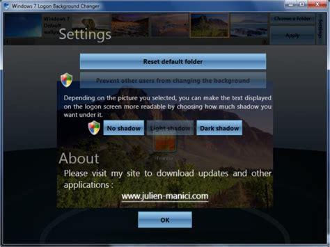 Windows 7 Logon Background Changer (windows) Download