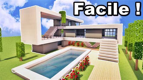 Maison Ultra Moderne Facile À Faire Sur Minecraft