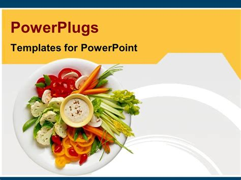 powerpoint template healthy diet healthy food  white