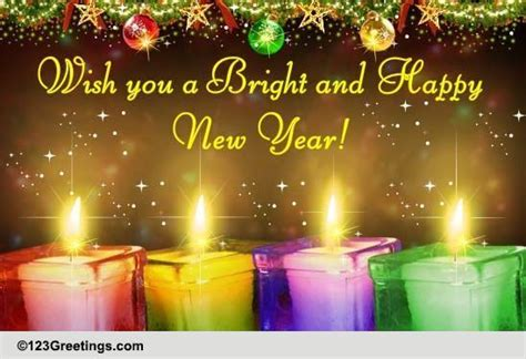 bright  happy  year  inspirational wishes