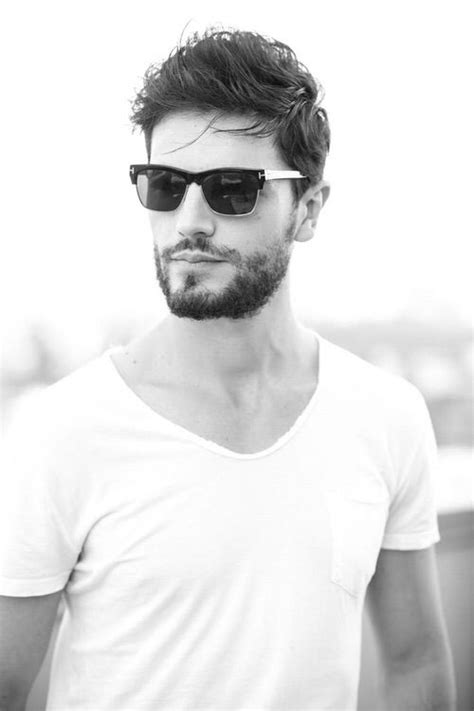 image   heart  beard hair handsome man shades