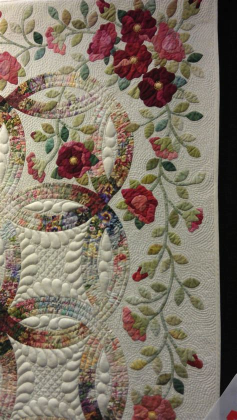 wedding ring quilt rings and roses by janet treen