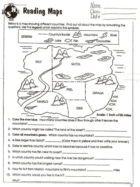social studies skills geography activities