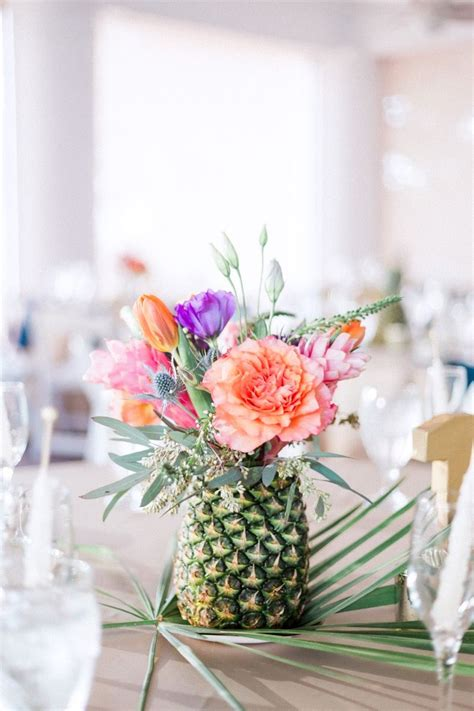 Pretty As A Pineapple Wedding Wedding Table Decorations