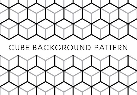 Cube Background Cube Background Pattern Free Vector Stock