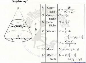 Kegel Höhe Berechnen : kegelstumpf volumen energie und baumaschinen ~ Themetempest.com Abrechnung
