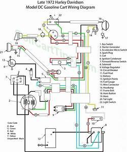 Harley Davidson Late 1972 Gasoline Model Dc Wiring Diagram