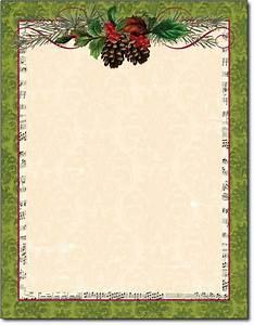 pinecone holiday stationery garland christmas letterhead With christmas letter stationary
