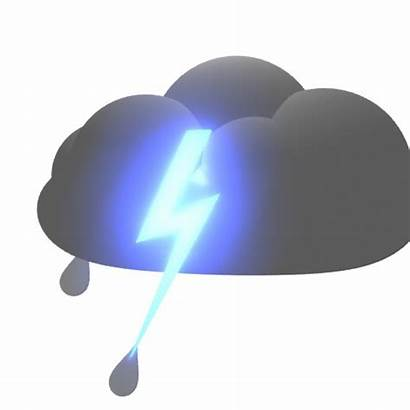 Rain Animated Clouds Clipart Cloud Lightning Weather