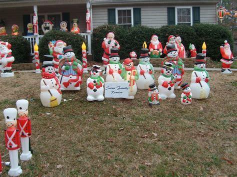 blow mold snowmen christmas display ideas pinterest