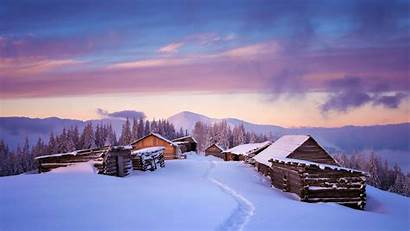 Winter 4k Snow Wallpapers Cabin Nature Mountain