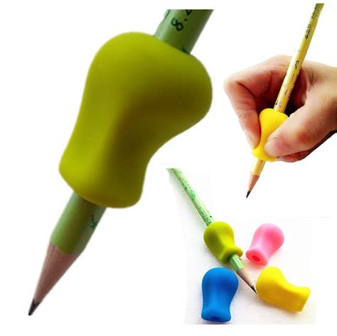 12pc the pen pencil grip children school stationery 597 | 12pc The pen Pencil Grip Kids Children School Stationery Control Right Handed Soft Silicone Writing Handwriting