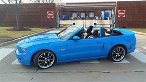 2013 Grabber Blue Ford Mustang GT Premium Convertible w/Custom Mods