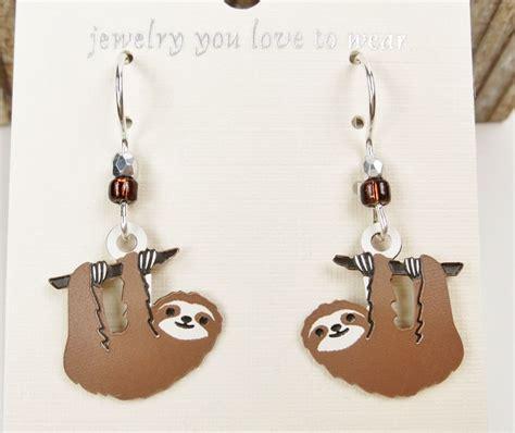 sienna sky earrings hanging sloth talich
