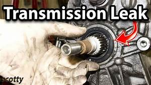 How To Fix A Transmission Leak In Your Car  Output Shaft