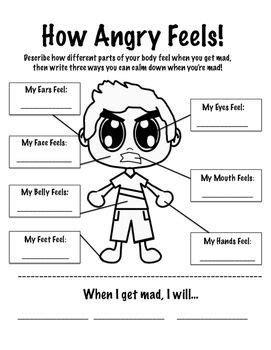 stress management how anger feels worksheet jobloving