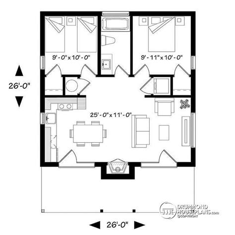 two bedroom cabin floor plans 1st level small modern cabin or small contemporary home 2