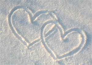 heart in snow valentines
