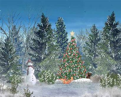 Christmas Animated Forest Merry Screensaver Screensavers Gift