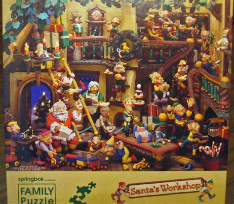 santas workshop springbok  pc family jigsaw puzzle