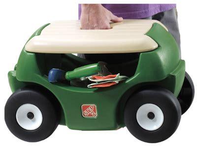 step 2 garden cart step 2 garden hopper wheeled seat cart w storage 5a0000 ebay