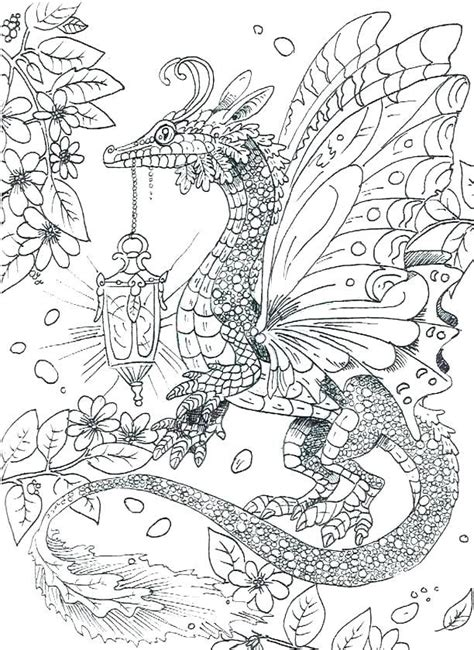 Dragon Coloring Pages for Adults COLORING PAGES