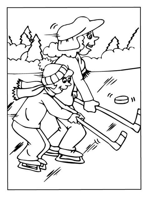Kleurplaat Ijshockey by Kleurplaat Ijshockey Kleurplaten Nl