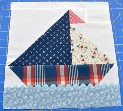 Sailboat Quilt by Baby Burrito Quilts The First Block For The Sailboat Quilt