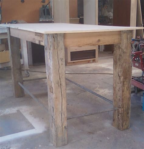 Handmade Rustic Outdoor Table By Santini Custom Furniture. Maple Writing Desk. Gold End Table. Cushioned Lap Desk. Table Tablet. Exercise Bike Under Desk. Cheap Tables And Chairs For Sale. Brass And Glass Coffee Table. What Height Should A Standing Desk Be