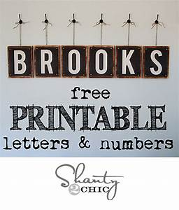Free Printable Letters Numbers Shanty 2 Chic