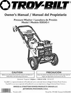 Troybilt 020242 1 User Manual Pressure Washer Manuals And