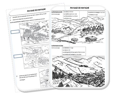 Carte Montagne Cycle 3 by Espace Paysage De Montagne Meroute En Clis