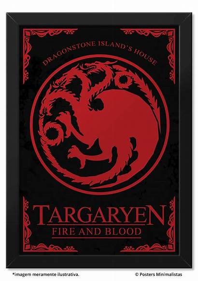 Thrones Poster Targaryen Daenerys Posters Houses Minimalistas