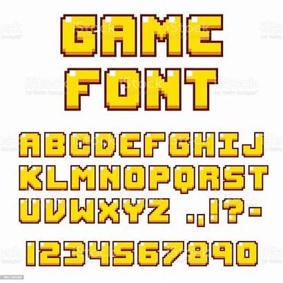Font Pixel Videogame Numbers Retro Bit Letters
