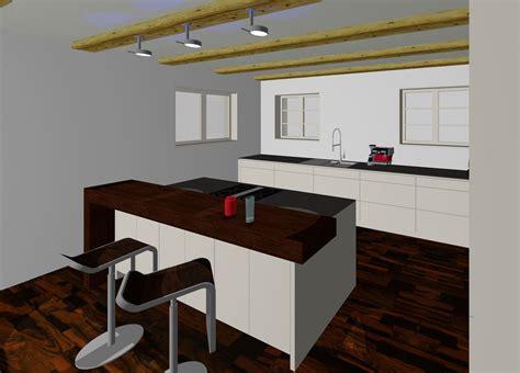 3d Planung Küche Mit Insel Und Theke