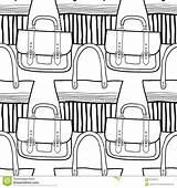 Handbag Seamless Coloring Stylish Clutch sketch template