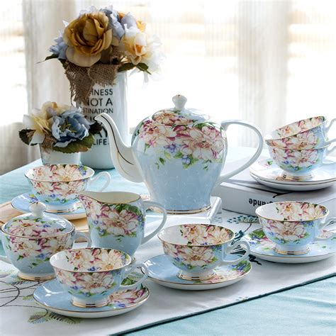 5731 tea and coffee sets 21piece set delicate bone china coffee cup set european