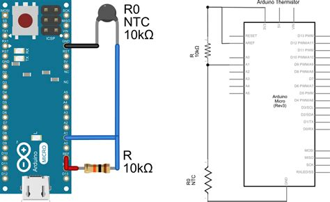 Openqcm The Temperature Sensor Using A Thermistor With