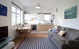 Open, Plan, Kitchen, Living, Room, Small, Space