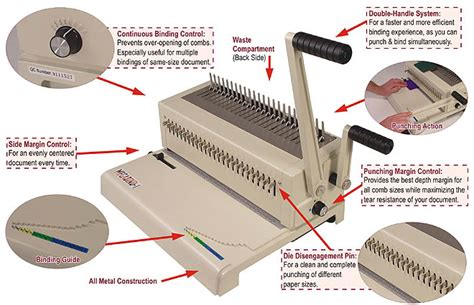 plastic comb binding machine megabind