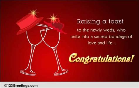 raising  toast  congratulations ecards greeting cards