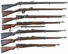 Seven Military Bolt Action Rifles -A) Amberg Model 71 Rifle