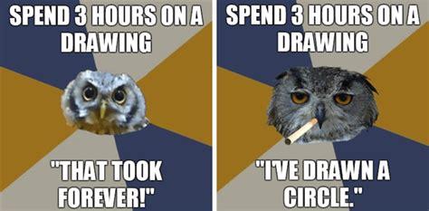 Art Owl Meme - image 144513 art student owl know your meme